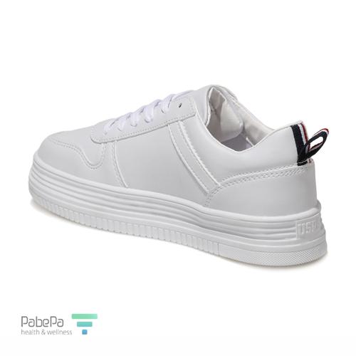 کفش سفید زنانه کژوال پولو (US Polo Assn Wall 1fx White)